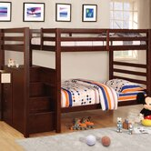 Cornell Twin over Twin Bunk Bed with Stairs and Storage