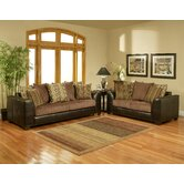 Delphi Upholstered Sofa and Loveseat Set