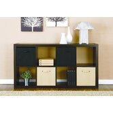 Sloane 8-Shelf Bookcase with Removable Fabric Bin