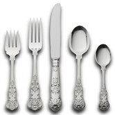 Queens 46 Piece Dinner Flatware Set with Pie Server