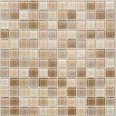 "Glass Mosaic 12"" Tile Accent in Vanilla"