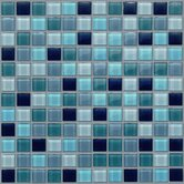 "Glass Mosaic 12"" Tile Accent in Navy"