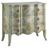 Painted Treasures 3 Drawer Leaves Accent Chest