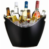 Bar Craft Black Acrylic Drinks Pail / Cooler, Labelled