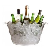 Bar Craft Clear Acrylic Oval Drinks Pail