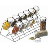 31cm x 14cm x 15cm Chrome Plated Spice Rack