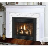 Light Finish Sienna Flush Fireplace Mantel with Large Opening