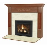 Viceroy Flush Fireplace Mantel with Large Opening
