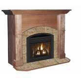 Deluxe Manchester Flush Fireplace Mantel with Large Opening