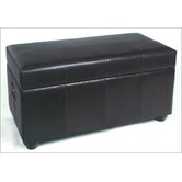 Leather Bedroom Storage Ottoman