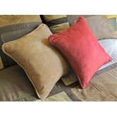 18&quot; Micro Suede Throw Pillow (Set of 2)