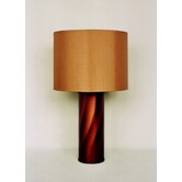 Tiger Table Lamp in Rust with Gold Shade
