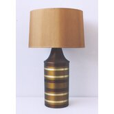 Striped Apollo Table Lamp in Bronze with Gold Shade