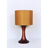 Twister Table Lamp in Rust Fade with Gold Shade