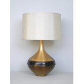 Kiss Table Lamp in Rust Horizon with Pebble Shade