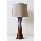 Skyscraper Table Lamp in Bronze Burst with Driftwood Shade