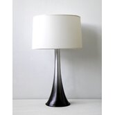 Flamingo Table Lamp in Smoke with White Linen Shade