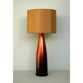 Val Table Lamp in Rust Fade with Gold Shade