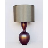 Ruby Table Lamp in Bronze Burst with Driftwood Shade