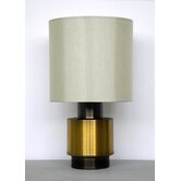 Michelle Table Lamp in Gold / Charcoal with Pebble Shade