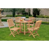 Teak 5 Pc Dining Set