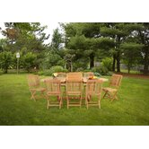 Teak 9 Pc Dining Set