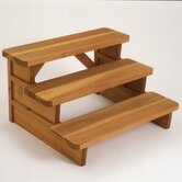 36&quot; Redwood Three Tier Square End Steps