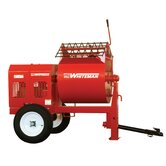 12 Cubic Foot Honda GX390QA Whiteman Steel or Hydraulic Mortar Mixer with Hydraulic Drump