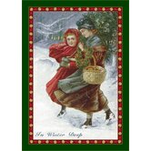 Winter Seasonal Holiday in Winter Deep Novelty Rug