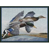 Eddie LeRoy Flying Mallards Novelty Rug