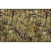 Realtree Wetlands Solid Camo Novelty Rug