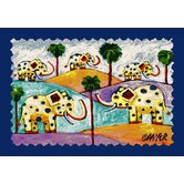 Don Sawyer Roaming Elephants Kids Rug