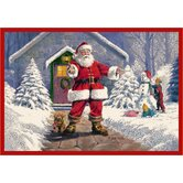 RJ McDonald Welcome Santa Novelty Rug