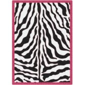 Black &amp; White Zebra Glam Pink Passion Rug