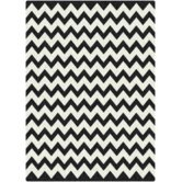 Black &amp; White Vibe Techno Black Rug