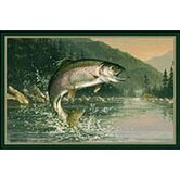 Hautman Rainbow Trout Novelty Rug