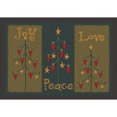 Winter Seasonal Folktree Winter Novelty Rug