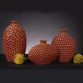 Mocho Vases in Red (Set of 3)