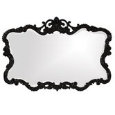 Lacquered Talida Mirror in Glossy Black