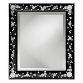 Nassau Wall Mirror in Black Lacquer with Mother of Pearl Inlay