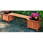 Cedar Planter Bench