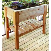 Large Cedar Rectangular Raised Container Garden