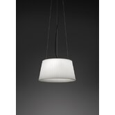 Plis Outdoor Pendant in White Lacquered