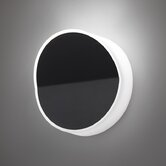 Beta Round Wall Sconce in Soft Black Lacquer