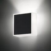 Beta Square Wall Sconce in Soft Black Lacquer