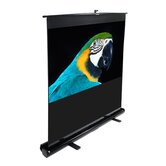 "MaxWhite ez-Cinema Series Floor Stand TeleScoping Pull Up Screen - 80"" Diagonal"