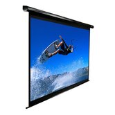 "MaxWhite VMAX2 Series ezElectric / Motorized Screen - 113"" Diagonal in Black Case"