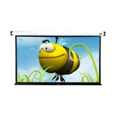 "MaxWhite-Fiberglass Home2 Series  97.2"" Overall Height Electric / Motorized Screen - 135"" Diagonal in White Case"