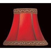 Faux Leather Chandelier Shade in Red with  Trim