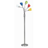 Calypso Floor Lamp in Steel with Colored Shades